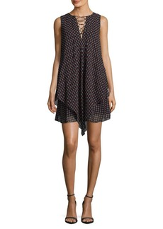 Derek Lam 10 Crosby Lace-Up Silk Shift Dress