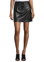 Derek Lam 10 Crosby Laced Leather Mini Skirt