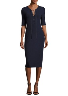 Derek Lam 10 Crosby Laced Ponte Midi Dress