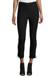 Derek Lam 10 Crosby Laced Stretch Ponte Leggings