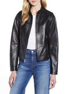 Derek Lam 10 Crosby Lambskin Leather Moto Jacket