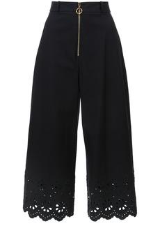 Derek Lam 10 Crosby laser-cut culottes - Black