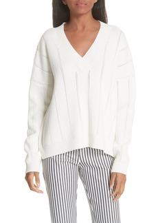Derek Lam 10 Crosby Lattice Pointelle Sweater