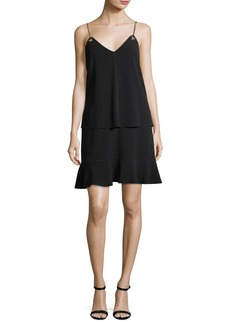 Derek Lam 10 Crosby Layered Camisole Crepe Dress with Flounce Skirt