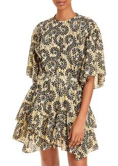 Derek Lam 10 Crosby Layne Ruffled Hem Dress