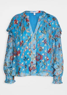 Derek Lam 10 Crosby Lilou Ruffle Blouse with Smocked Cuff