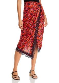 Derek Lam 10 Crosby Liona Lace Trimmed Midi Skirt