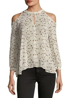 Derek Lam 10 Crosby Long-Sleeve Cold-Shoulder Blouse