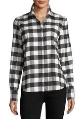 Derek Lam 10 Crosby Long-Sleeve Cotton Plaid Shirt