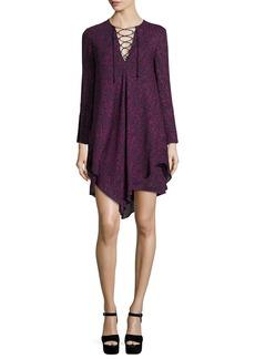 Derek Lam 10 Crosby Long-Sleeve Lace-up Swing Dress