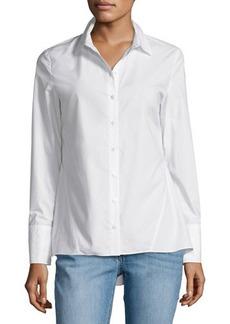 Derek Lam 10 Crosby Long-Sleeve Peplum Shirt