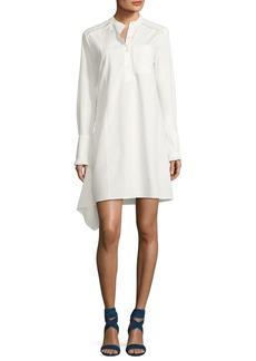 Derek Lam 10 Crosby Long-Sleeve Poplin Shirtdress with Ruffle Detail