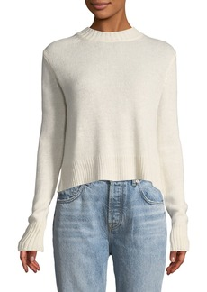 Derek Lam Long-Sleeve Pullover Sweater with Back Ring Detail