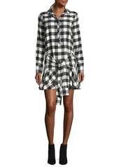 Derek Lam 10 Crosby Long-Sleeve Tie-Waist Shirtdress
