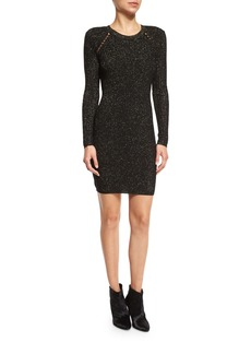 Derek Lam 10 Crosby Metallic Jacquard Sheath Dress