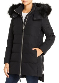 Derek Lam 10 Crosby Mid Fox Fur-Trim Down Coat