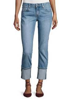 Derek Lam 10 Crosby Mila Mid-Rise Cuffed Slim Boyfriend Jeans