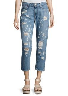 Derek Lam 10 Crosby Mila Mid-Rise Slim Distressed Boyfriend Jeans