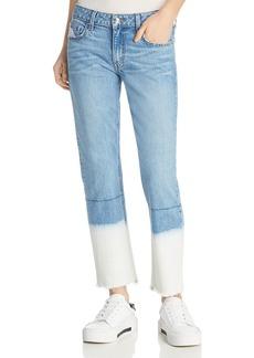 Derek Lam 10 Crosby Mila Mid Rise Slim Jeans in Bleached Hem
