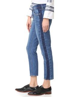 Derek Lam 10 Crosby Mila Tuxedo Stripe Boyfriend Jeans
