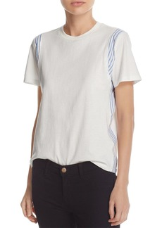 Derek Lam 10 Crosby Mixed-Media Tee