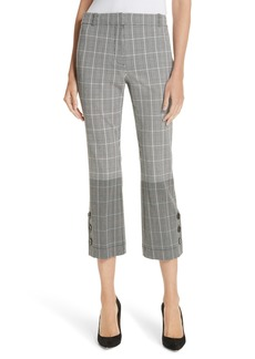 Derek Lam 10 Crosby Mixed Plaid Crop Flare Pants