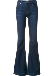 Derek Lam 10 Crosby Noha Mid-Rise Sexy Flare - Blue