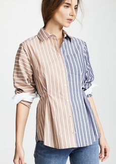 Derek Lam 10 Crosby Overlay Button Down Shirt