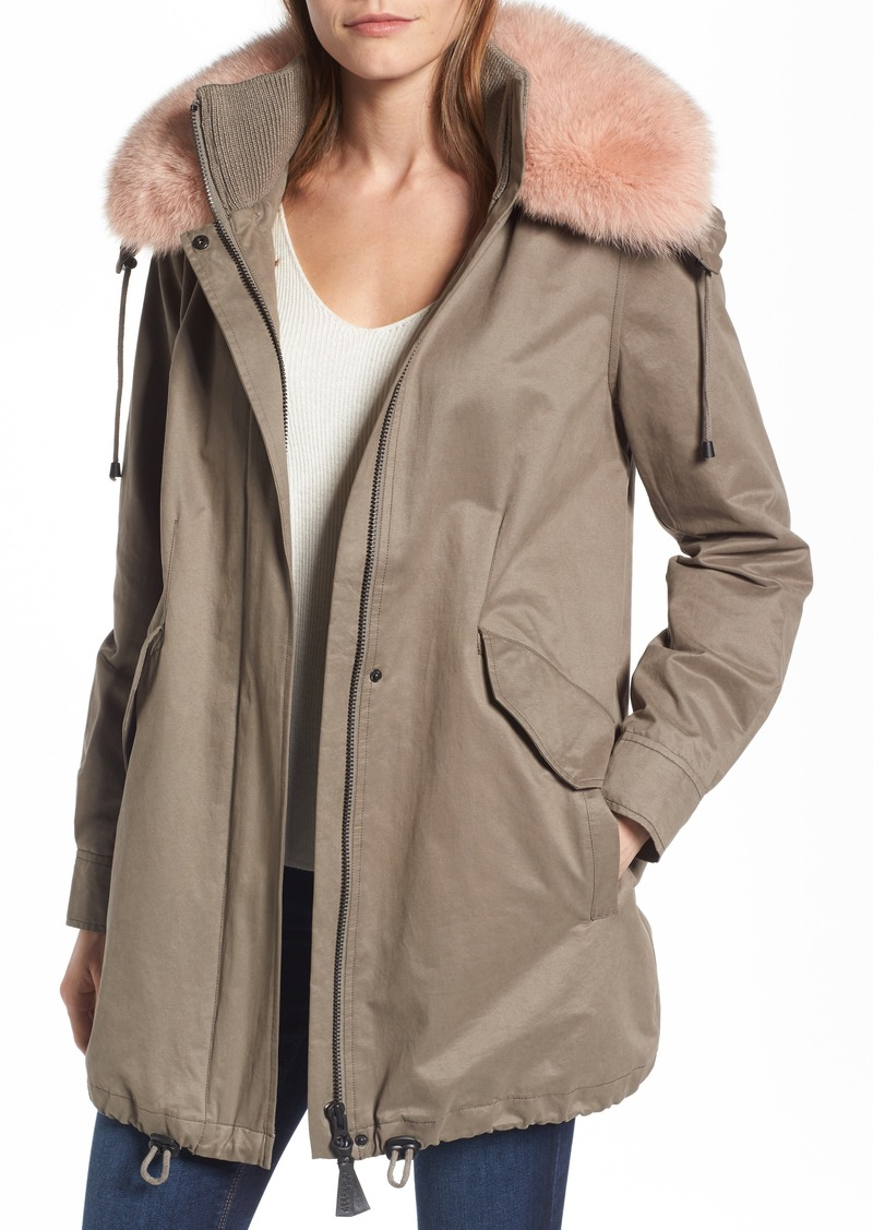 e22d84ad52f54 Derek Lam Derek Lam 10 Crosby Parka with Genuine Fox Fur Trim ...