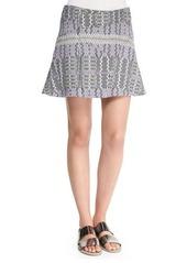 Derek Lam 10 Crosby Patterned Asymmetric Flare Skirt