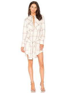 DEREK LAM 10 CROSBY Plaid Shirt Dress in White. - size M (also in XS,S,L)