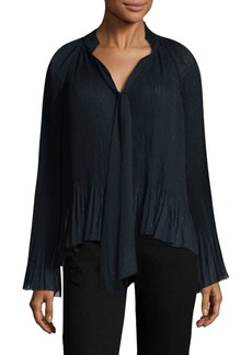 Derek Lam Pleated Bell-Sleeve Blouse