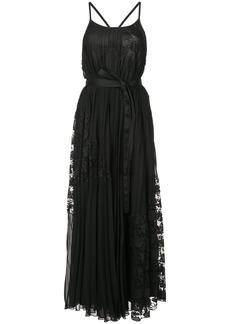 Derek Lam 10 Crosby Pleated Cami Dress - Black