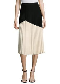 Derek Lam Pleated Colorblock Skirt