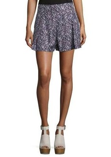 Derek Lam 10 Crosby Pleated Floral Shorts