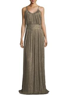 Derek Lam 10 Crosby Pleated Sleeveless Maxi Dress