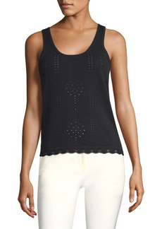 Derek Lam Pointelle Knit Tank Top