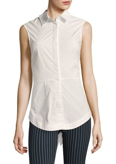 Derek Lam Poplin Cotton Button-Down Shirt