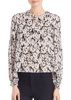 Derek Lam 10 Crosby Printed Silk Blouse
