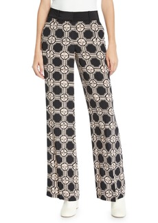 Derek Lam 10 Crosby Printed Silk Wide-Leg Pajama Pants