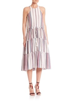 Derek Lam 10 Crosby Printed Tiered Midi Dress