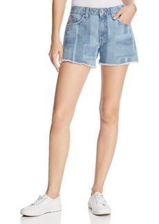 Derek Lam 10 Crosby Quinn Girlfriend Denim Shorts in Light Wash