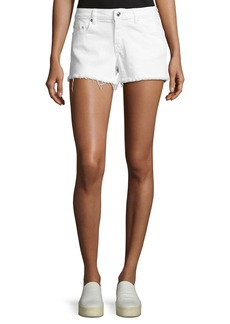 Derek Lam 10 Crosby Quinn Mid-Rise Slim Girlfriend Jean Cutoff Shorts