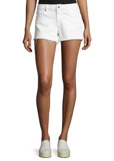 Derek Lam Quinn Mid-Rise Slim Girlfriend Jean Cutoff Shorts
