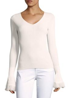 Derek Lam Rib-Knit Long Sleeve Sweater