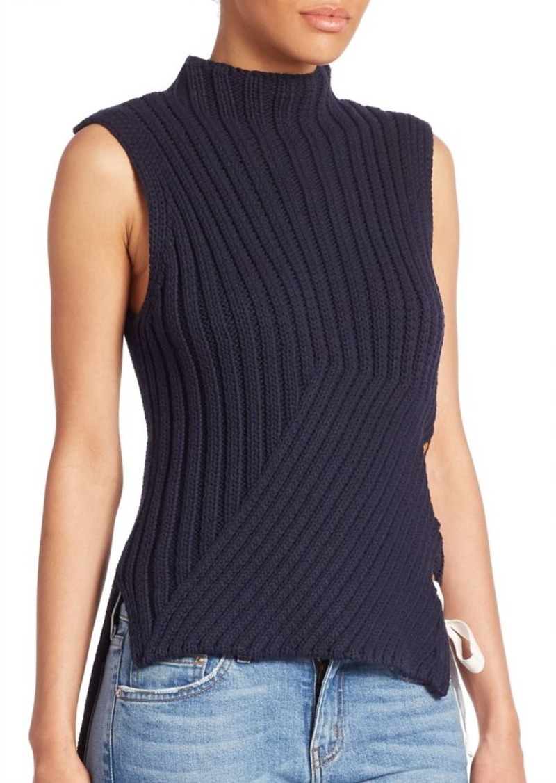 Derek Lam Ribbed Sleeveless Sweater