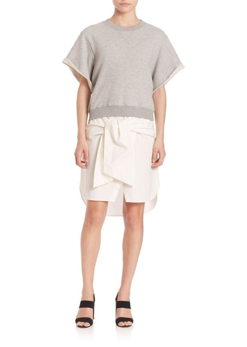 Derek Lam 10 Crosby Rolled Sleeve Sweatshirt and Dress Set
