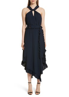 Derek Lam 10 Crosby Ruffled Asymmetrical Dress