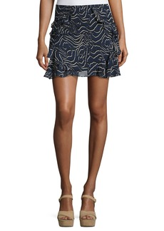 Derek Lam 10 Crosby Ruffled Silk Mini Skirt