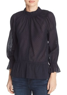 Derek Lam 10 Crosby Ruffled Top